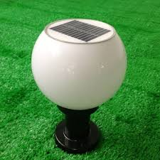 solar led light for globes modern acrylic 8 wide mini solar decorative led post light in