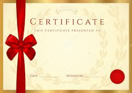 certificate of completion template with wax seal border and red