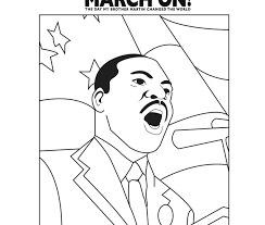 Martin Luther King Jr Coloring Page Free Printable Famous Pages Mlk Coloring Pages