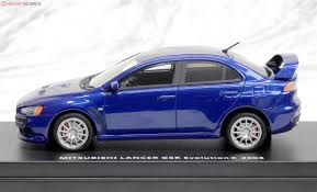 blue mitsubishi lancer mitsubishi lancer evolution x cosmic blue mica diecast car