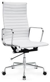 High Back White Office Chair Wonderful White Leather Chair Office High Back White Leather