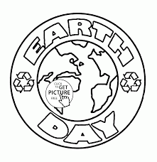 logo earth day coloring page for kids coloring pages printables