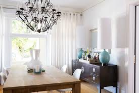 Dining Room With Sideboard And Table Lamps With Tall Shades - Dining room table lamps