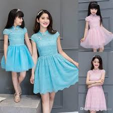 blue pink dresses summer 2017 style qipao