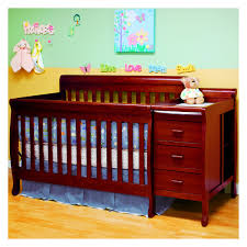 Young America Convertible Crib by Athena Daphne 2 In 1 Convertible Crib And Changer Table Combo