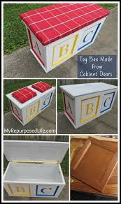 Diy Build Toy Chest by How To Build A Toy Box From Cabinet Doors Fantastic Tutorial