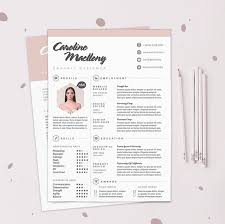 Example Cover Letter And Resume by Resume Cv Design Template Cover Letter Instant Digital
