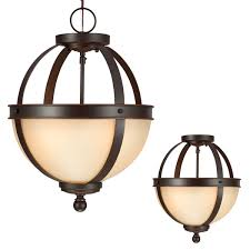 Bronze Ceiling Light Demi Globe Semi Flush Mount Ceiling Light Shades Of Light
