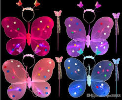 light up fairy wings 2018 butterfly wing headband magic wand light up funny