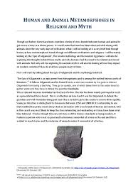 gilgamesh flood myth wikipedia human and animal metamorphoses in religion and myth epic of