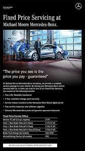 mercedes service offers michael athlone mercedes fixed price service