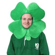 irish four leaf clover hat novelty st patricks day fancy dress