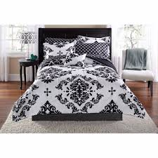 Black Twin Bed Mainstays Classic Noir Bed In A Bag Bedding Set Black Twin Twin Xl