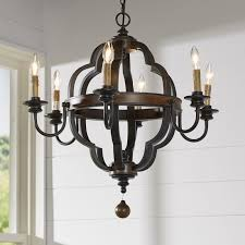 Candle Style Chandelier Enthoven 6 Light Candle Style Chandelier U0026 Reviews Birch Lane