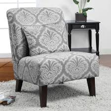 Gray And White Accent Chair Living Room Potential Grey Ikat Accent Chair New Home