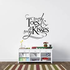 sandy toes and salty kisses beach wall stickers inspired lettering