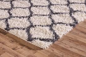 shaggy trellis area rug fluffy modern carpet contemporary large