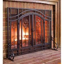 Polished Brass Fireplace Doors by Fireplace Screens You U0027ll Love Wayfair