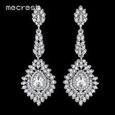 drop bridal earrings mecresh fashion teardrop wedding earrings for women blue silver