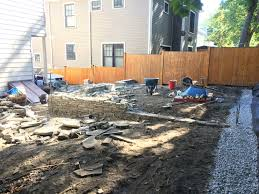 Raised Patio Construction Stone Walls Patios And Steps Somerville Ma Concord Stoneworks