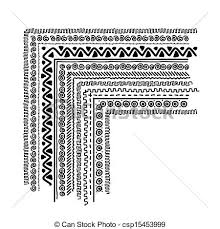 eps vectors of design elements with ethnic handmade ornament