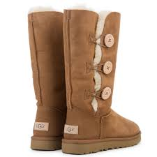 womens ugg triplet boot s ugg bailey button triplet ii boot chestnut