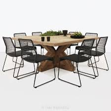 alex reclaimed teak and wicker outdoor dining set teak warehouse