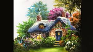 painting the basic cottage in acrylics lesson 3