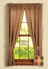 Tie Back Kitchen Curtains by Apple Cider Tieback Curtain Panels Ideas For The House