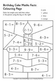 chicken maths facts colouring page easter teaching resources