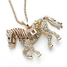 horse necklace pendants images Horse necklace with multicolor rhinestone charm todaytopdeals jpg