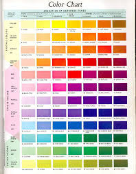 Pink Color Wheel by Colour Chart Jpg