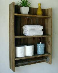 Bathroom Towel Shelves Wall Mounted Wooden Bathroom Towel Rack Shelf Justget Club