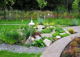outdoor living rock garden design modern backyard garden idea