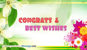 and best wishes congratulationmessage