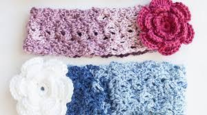 crocheted headbands crochet cozy posy headband tutorial the crochet crowd
