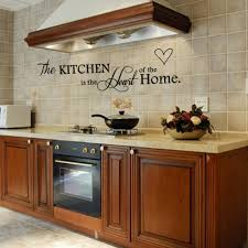 removable black quote kitchen is heart of home sayings design wall