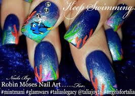 robin moses nail art finding dory nail art