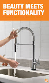 delta touch20 kitchen faucet delta trinsic pro single handle pull down sprayer kitchen faucet
