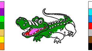 how to draw big crocodile coloring book for kids youtube