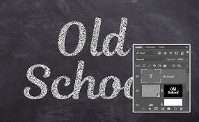 how to create a stylized chalk text effect in adobe photoshop