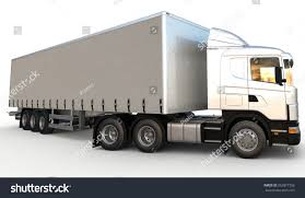 Semitrailer Delivery Truck On Blank Background Stock Illustration