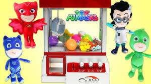 pj masks play claw machine arcade game catboy owlette gekko