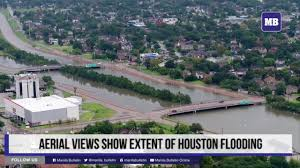 Map Of Houston Area Aerial Views Show Extent Of Houston Flooding Youtube