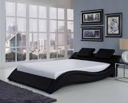 Faux Bed Frame Bedrooms Bed Vela Black Size Faux Leather Bed Frame