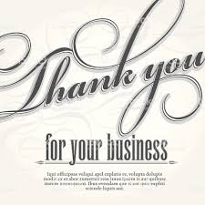 business thank you cards thank you for your business design card template stock vector