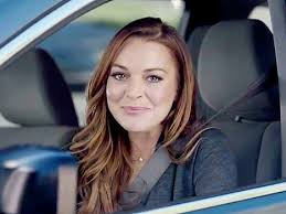 americas best owl commercial actress lindsay lohan is sorta a mom in esurance super bowl commercial