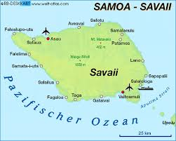 map samoa map of savaii samoa map in the atlas of the world world atlas