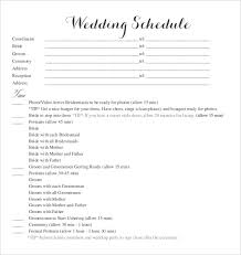 wedding schedule templates u2013 29 free word excel pdf psd format