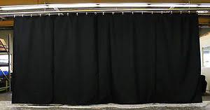 Black Backdrop Curtains Black Stage Curtain Backdrop Partition 10 H X 20 W Non Fr Ebay